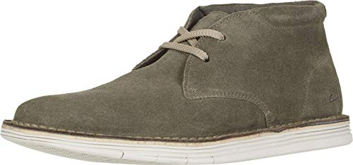 Clarks Men's Forge Stride Chukka Boot, Olive Suede, 90 M US