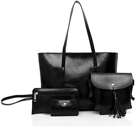 MEILICUI Hobo Handbags for Women Large Shoulder Bag Ladies Crossbody Bag 4pcs Purse Set