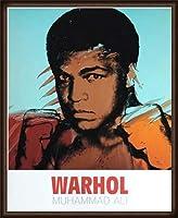 ポスター アンディ ウォーホル モハメド アリ 1977 額装品 ウッドハイグレードフレーム(オーク)