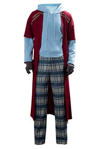 Linen Family Cosplay di Film per Uomo Costume da Thor Odinson Costume Cosplay di Halloween con Cappotto Lungo,S