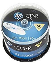 HP Originele lege CD-R schijven (50 Pack, Cakebox, 80mins, 700MB)