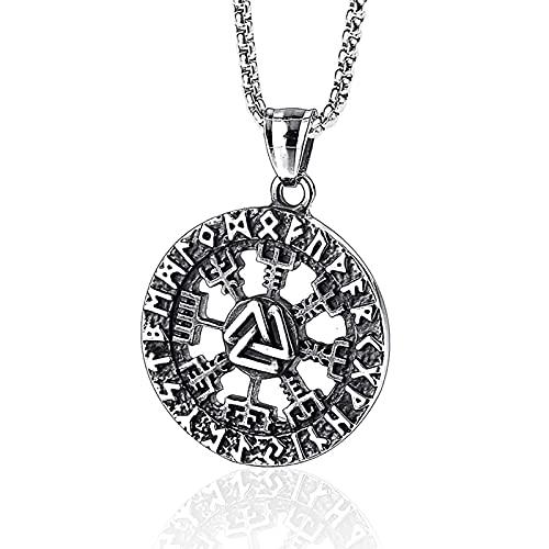 HAWFHH Collar Vikingo, Amuleto Colgante Vikingo Nórdico Joyas Vikingas Valknut Joyas de Regalo Vikingas