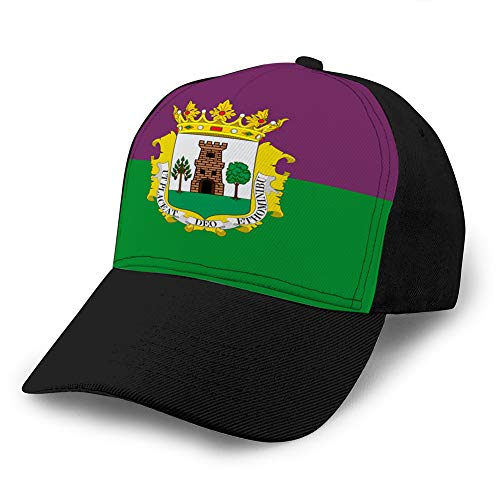 Holefg3b Gorra de béisbol clásica de algodón Sombrero Casual Unisex Ajustable Bandera Suave de plasencia en Extremadura de españa Gorra de béisbol de Mezclilla Personalizada