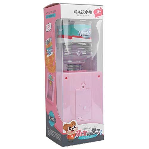 Mini Wasserspender, Wasserspender Spielzeug, 1/12 Wasserspender, pädagogisch empfindliche Jungen und Mädchen für Kinder Kinder Geschenke(Pink)