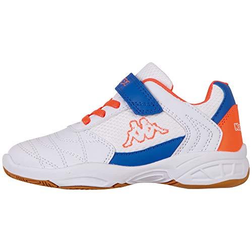 Kappa Unisex Kinder DROUM II MF Sneaker, 1029 White/Coral,38 EU