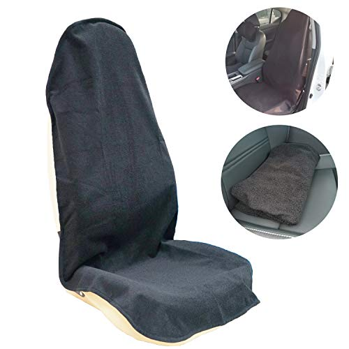 Smile Turtle Car Seat Covers Waterproof Front Seats Only,for Gym Workout,Running,Swimming,Beach and Hiking,Universal Fit for Most Cars Trucks Suvs Car Seat Protector Accessories (Black)