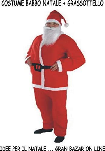 AJL Srl Costume Vestito Babbo Natale GRASSOTTELLO Vedi Misure
