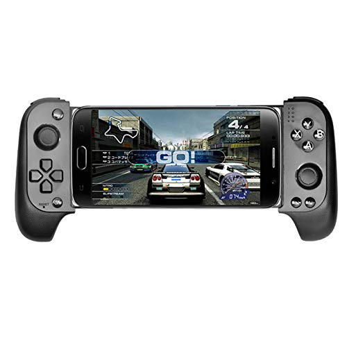 QuTess Mobile Game Controller Telescopic Wireless Bluetooth Controller Gamepad Wireless Bluetooth Game Controller for Samsung Xiaomi Huawei Android Phone PC with Flexible Joystick