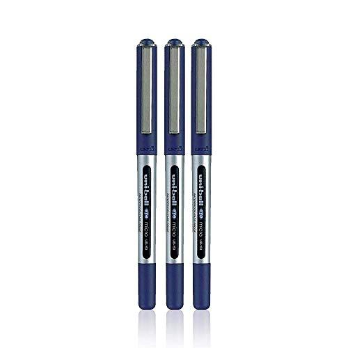 UNI-BALL EYE UB-150 BLUE [Pack of 3] MICRO 0.5mm TIP ROLLERBALL PEN by Uni-Ball