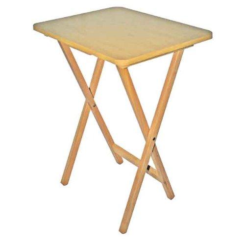 Anika 62090 Folding TV Table, Natural Wood, 38.5 x 48.5 x 65cm