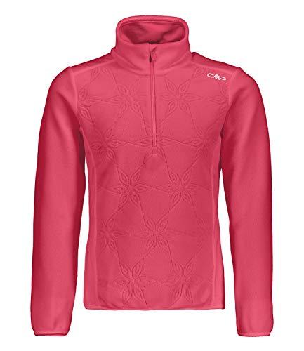 CMP Mädchen Skipullover Fleecepullover Half Zip Fleece Sweat 38G1115, Farbe:Rot, Größe:176, Artikel:-C799 Coral