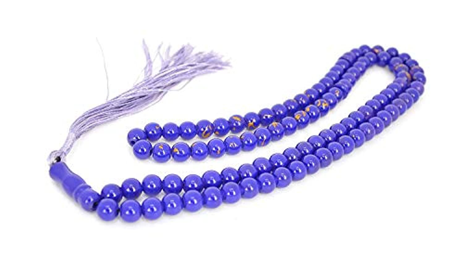 Muslim Bookmark - Islamic Prayer Beads | Misbaha Tasbih 99 Glass Bead Necklace