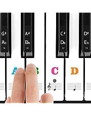 Piano Klistermärke För 37/49/54/61/88 Vita Och Svarta Tangenter, Transparent, Tunnare Noter Klistermärke Med Större Bokstäver, Enkla Instruktioner För Barn, Piano Nybörjare Och Veteraner