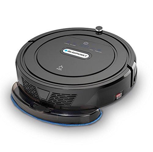 Blaupunkt Saugroboter mit Wischfunktion (Automatischer Staubsauger Roboterstaubsauger) Bluebot, HEPA-Filter & Nasswischfunktion für Allergiker, Fallschutz, Ladestation, Schwarz, 35 Watt - 4