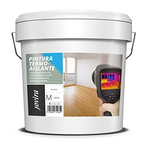 PINTURA TERMOAISLANTE Para superficies de hormigón, morteros de cemento, ladrillo, yeso. Mejora el aislamiento térmico (frio-calor) y acústico. (4 L)