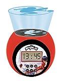 LEXIBOOK- Reloj Despertador con proyector Miraculous con función de repetición y Alarma, luz Nocturna con...