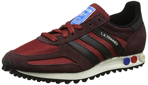 adidas La Trainer Og, Sneaker a Collo Basso Uomo, Rosso (Mystery Red S17/Core Black/Night Brown), 46 EU