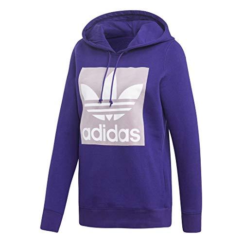adidas Originals Damen Trefoil Hooded Sweatshirt Kapuzenpulli, Collegiate Purple, X-Small