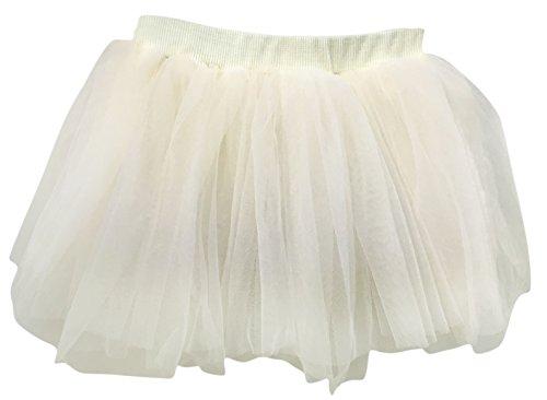 Plus Nao(プラスナオ) 子供用 チュチュ パニエ チュールスカート フレアスカート ウエストゴム ミニスカート ベビー キッズ バレエ 女の子 100 ベージュ