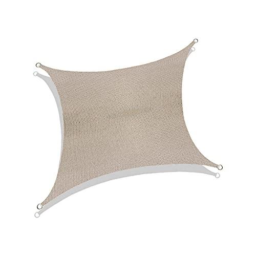 Toldo cuadrado de vela – resistente a los rayos UV para pérgola, piscina, patio, jardín, actividades al aire libre con tela duradera, personalización disponible (6 pies x 6 pies, beige)