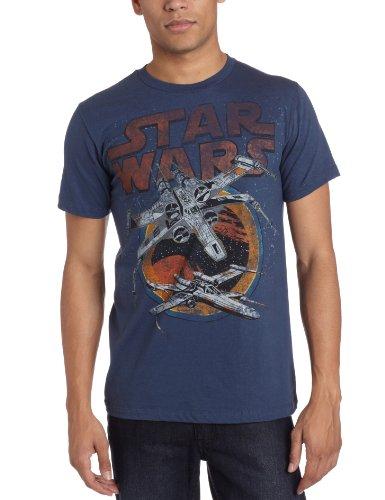 X-Wing Starfighter Rebel Alliance Raumschiff T-Shirt - Blau - XX-Large