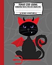 Primary Story Journal: Spooky Devil Cat Handwriting and Drawing Practice Paper