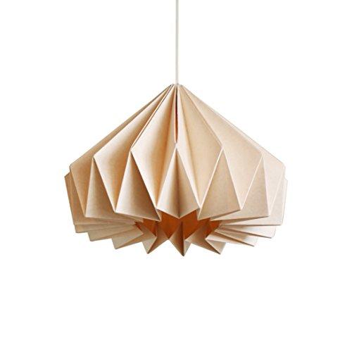 Brownfolds Papier-Origami-Lampenschirm, Vanilla Bliss Doppelpack Light Peach