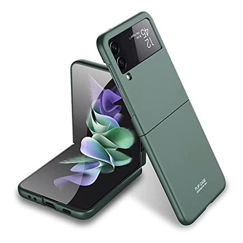 für Samsung Galaxy Z Flip 3 5G Hülle Superdünne Matte Hülle Schlanke All-Inclusive Stoßfeste Schutzhülle (Grün)