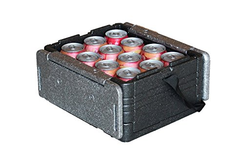 Flip Box Mini ICELESS Insulation Box Grey - Fits 12 Cans, Collapsible, Lightweight, Portable – Great for a Lunch Box, Parties, Picnics, Camping, Beach, Tailgating, Fishing, Hunting, Boating and More!