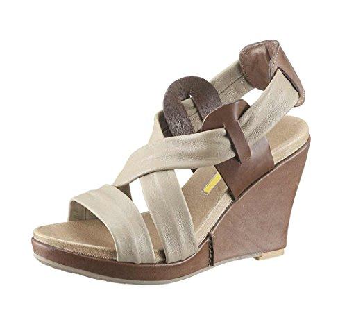 MANAS-Design Marken-Sandalette taupe-braun Größe 41