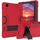 DUEDUE Samsung Tab S6 Lite 10.4' Case 2020 SM-P610/P615,Shockproof Heavy Duty Hybrid Hard PC Cover with Durable Kickstand High Impact Full Protective Case with S Pen Holder for Galaxy Tab S6 Lite,Red