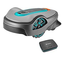 GARDENA SILENO life 750 | Tondeuse Robot jusqu'à 750m² – Tond sous la pluie et passages étroits, Bluetooth App, Capteur…