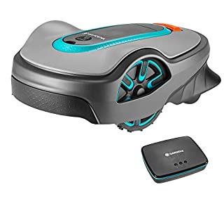 Gardena Smart Sileno Life Set: Robotic Lawnmower for lawns up to 1000 m², Controlled Via Smart App, Easy Passage function, with 57 db (A) very quiet, Includes Smart Gateway, UK Power Plug (19114-28) (B07P15YL9S) | Amazon price tracker / tracking, Amazon price history charts, Amazon price watches, Amazon price drop alerts