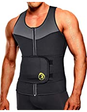 SEXYWG Heren Sauna Vest Taille Trainer, Zweetvest Voor Mannen Met Taille Trimmer Workout Shaper Controle Buikgordel Jassen Neopreen Saunapak