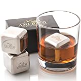 Gifts for Men, Unique Fathers Day Gift, Whiskey Stones Reusable Ice Cubes, Bar Accessories, Mens Birthday Gift Ideas, Cool Stuff for Him Dad Husband, Christmas Stocking Stuffers