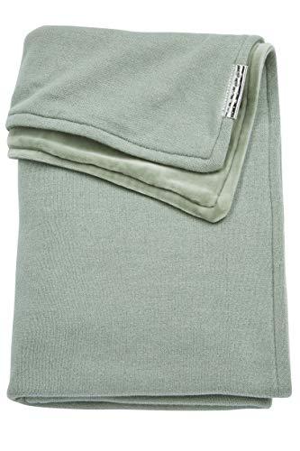 Meyco 2734022 - Copertina a maglia in velluto invernale, 75 x 100 cm, colore: Verde pietra