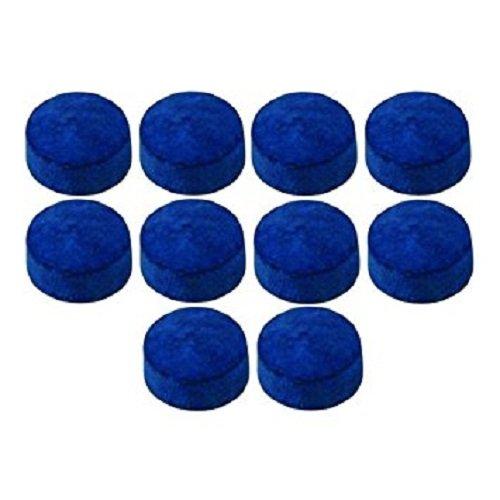 Laxmi Ganesh Billiard Pool cue tip 9mm 10 Piece Leather Blue
