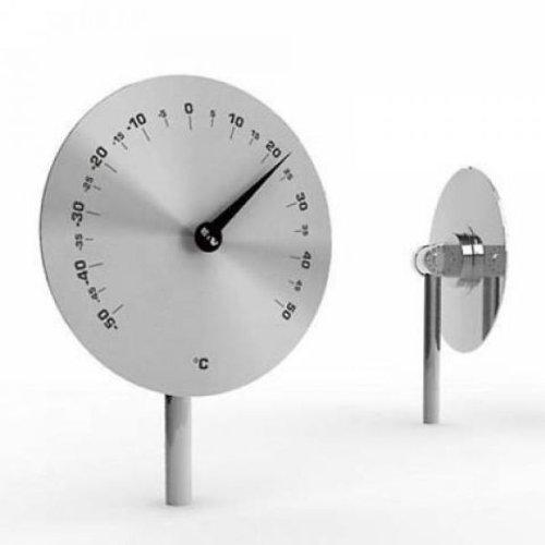 Unbekannt Odin Disc Classic Garten-Thermometer Edelstahl 15 cm