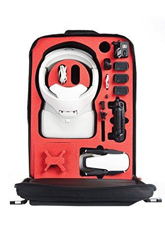 MC-CASES ® Transport Rucksack für DJI Goggles auch Racing Edition & DJI Mavic Air mit Platz für 4 Akkus und Zubehör - Made in Germany - Sehr angenehm zu tragen - Mit Regencape