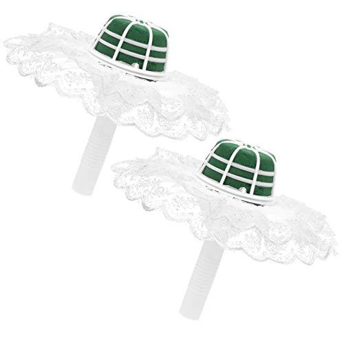 SOIMISS 4 supporti per bouquet da sposa, per bouquet da sposa, con manico in schiuma per fiori, fiori freschi, fiori secchi, composizioni floreali (coperchio di colore casuale)