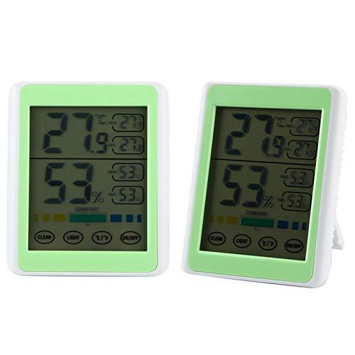 Omabeta Termómetro de Monitor de Temperatura y Humedad Medidor de Humedad de Temperatura Digital para el hogar Interior al Aire Libre