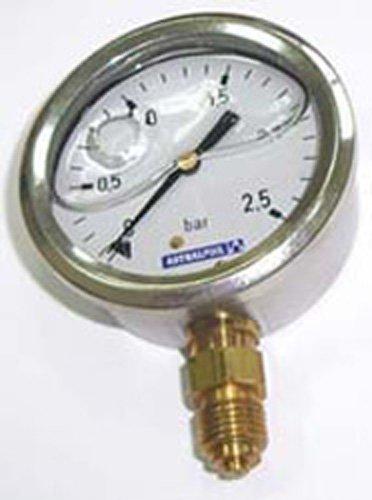 Fluidra 04214 – Manomètre 0 – 6 kg/cm2 à glycérine INOX