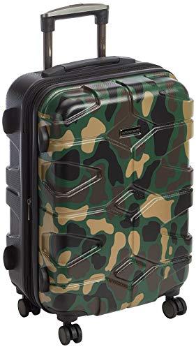 HAUPTSTADTKOFFER - X-Kölln - Valigia bagaglio a mano 55 cm, Trolley espandibile rigido, legero , ABS, TSA, 43-50 litri, Camuffamento