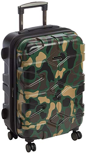 HAUPTSTADTKOFFER - X-Kölln - Handgepäck Trolley, Bordgepäck, Koffer, Volumenerweiterung, TSA, 4 gummierte Doppelrollen, 55 cm, 50 L, Camouflage matt