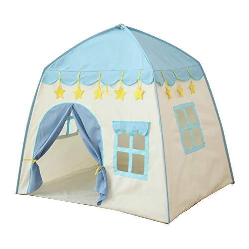 Tienda de poliéster para jardín, bonito tipi, interior y exterior, para niños, casa de juegos, regalo de cumpleaños infantil, princesa, castillo, juego portátil, fantasía, color azul