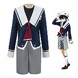 GGOODD SK∞ Chinen Miya Junior High School Sailor Suit Uniforme de Estudiante para Hombres y Mujeres Anime Cosplay Disfraz