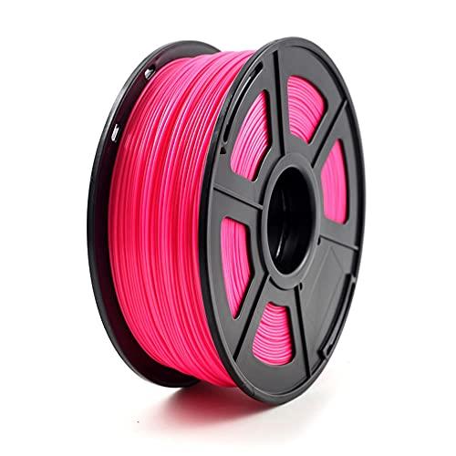 Filamento ABS Filamento 3D Filamento 1kg Treol (2.2lbs), precisión dimensional +/- 0.03mm, longitud de aproximadamente 380 metros, para impresoras 3D y bolígrafos 3D-Rosa fluorescente roja_1.7