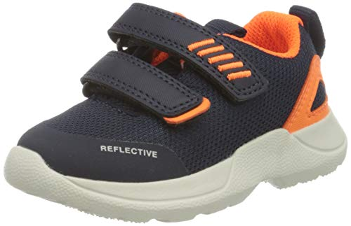 Superfit Baby Jungen Rush Sneaker, (Blau/Orange 80), 26 EU