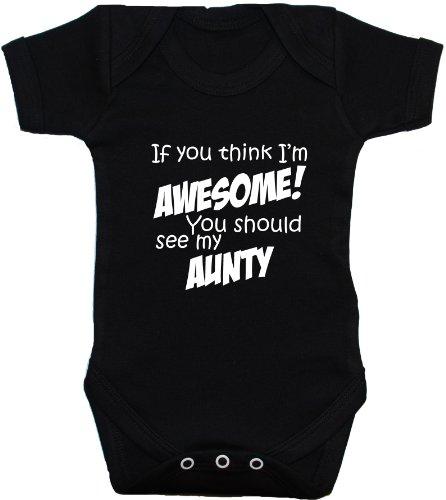 Acce Products - Body - Manches courtes - Bébé (fille) 0 à 24 mois - Noir - Noir - 3-6 mois