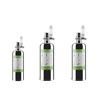 Festnight 2L Kit Double système générateur de CO2 pour Aquarium Kit système générateur de CO2 pour réacteur à dioxyde de Carbone pour Plantes Aquarium